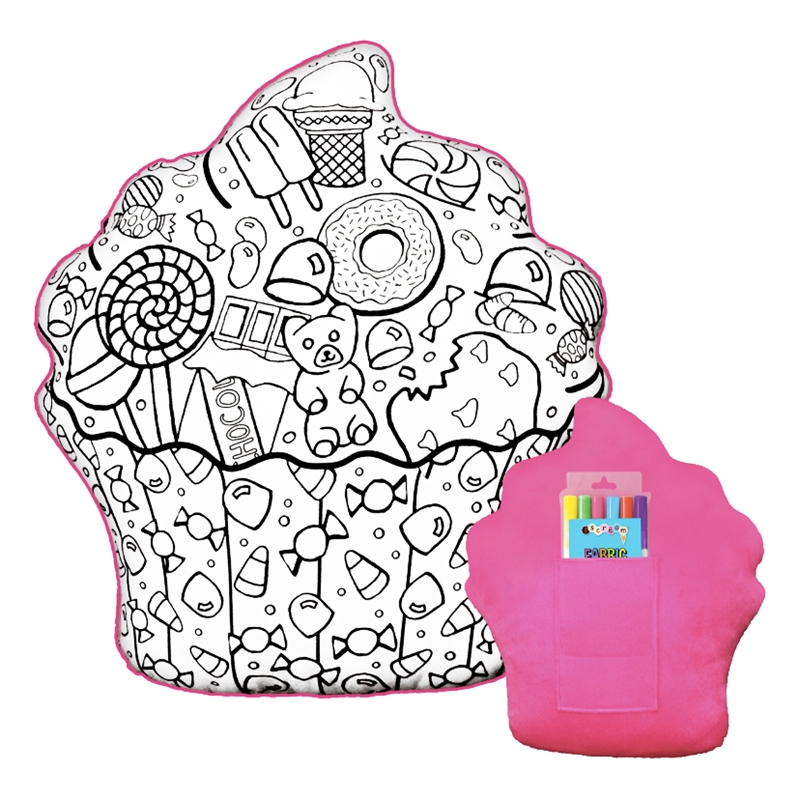 iscream Color Me Game Pillow