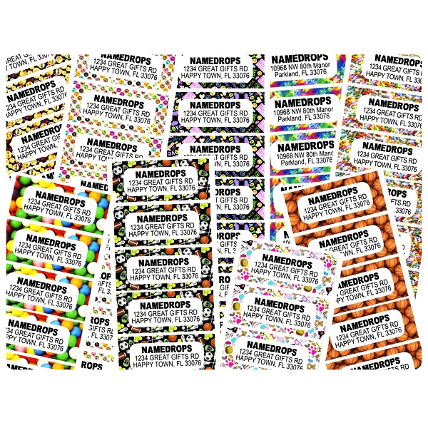 Namedrops Address Label Sheets