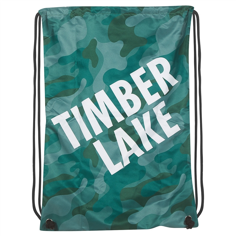 Athletic Camper Camo Drawstring Bag